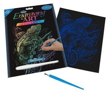 ENGRAVING ART SET - CHAMELEON (RAINBOW FOIL) by ROYAL & LANGNICKEL